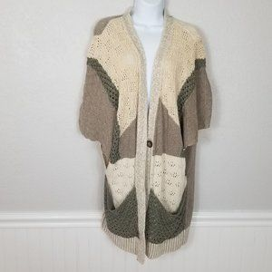 Anthropologie Moth Open Front Oversized Cardigan